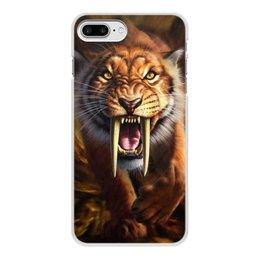 """Чехол для iPhone 7 Plus, объёмная печать """"ТИГРЫ ФЭНТЕЗИ"""" - хищник, животные, саблезубый тигр, стиль эксклюзив креатив красота яркость, арт фэнтези"""