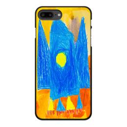 """Чехол для iPhone 7 Plus, объёмная печать """"Космос"""" - день космонавтики, ракета, космос, детский рисунок, подарок"""