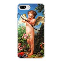 """Чехол для iPhone 7 Plus, объёмная печать """"Амур, стреляющий из лука (Шарль-Андре ван Лоо)"""" - картина, шарль-андре ван лоо"""