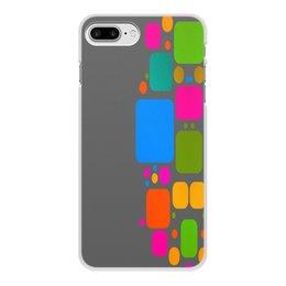"""Чехол для iPhone 7 Plus, объёмная печать """"Квадраты"""" - узор, графика, кубики, геометрия, квадраты"""