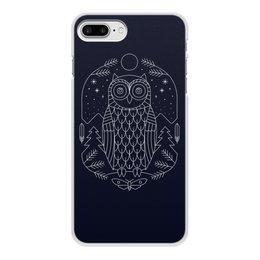 """Чехол для iPhone 7 Plus, объёмная печать """"Ночной страж"""" - ночь, сова, геометрия, минимализм, страж"""