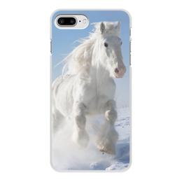"""Чехол для iPhone 7 Plus, объёмная печать """"Лошадь"""" - лошадь, фотография, животное, конь"""