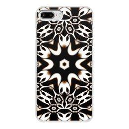 """Чехол для iPhone 7 Plus, объёмная печать """"Кофейный"""" - подарок, абстракция, фрактал, digital art, спектр"""
