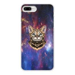 """Чехол для iPhone 7 Plus, объёмная печать """"Кот в космосе"""" - кот, звезды, котенок, космос, коты в космосе"""