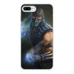 "Чехол для iPhone 7 Plus, объёмная печать ""Sub-zero"" - mortal kombat, смертельная битва, мортал комбат, саб-зиро"