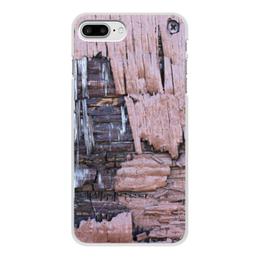 """Чехол для iPhone 7 Plus, объёмная печать """"Деревянный"""" - оригинальный, деревянный, амбарная доска"""