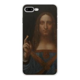 """Чехол для iPhone 7 Plus, объёмная печать """"Спаситель мира Леонардо да Винчи """" - арт, картина, живопись, леонардо да винчи, спаситель мира"""