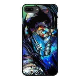"Чехол для iPhone 7 Plus, объёмная печать ""Mortal Kombat X (Sub-Zero)"" - воин, космос, боец, mortal kombat, sub-zero"