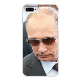 """Чехол для iPhone 7 Plus, объёмная печать """"ПУТИН. ПОЛИТИКА"""" - музыка, стиль, очки, россия, президент"""