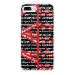 "Чехол для iPhone 7 Plus, объёмная печать ""Supreme"" - надписи, бренд, brand, supreme, суприм"