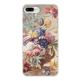 "Чехол для iPhone 7 Plus, объёмная печать ""Цветочный натюрморт (Ян ван Хёйсум)"" - цветы, картина, живопись, натюрморт, ян ван хёйсум"