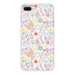 """Чехол для iPhone 7 Plus, объёмная печать """"Детский рисунок"""" - рисунок, дети"""