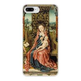 "Чехол для iPhone 7 Plus, объёмная печать ""Мадонна с младенцем на троне (Альберт Баутс)"" - картина, живопись, возрождение, баутс"