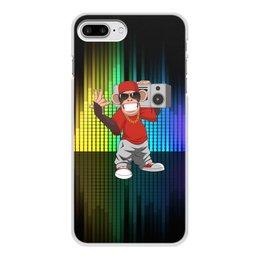 """Чехол для iPhone 7 Plus, объёмная печать """"Без названия"""" - музыка, животные, мартышка, обезьяна, бабуин"""