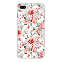"""Чехол для iPhone 7 Plus, объёмная печать """"Цветы"""" - цветы"""