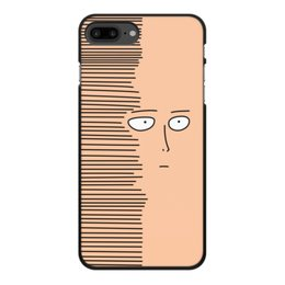 """Чехол для iPhone 7 Plus, объёмная печать """"Сайтам"""" - аниме, saitama, сайтама, one punch man, ванпанчмен"""