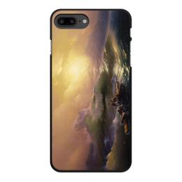"""Чехол для iPhone 7 Plus, объёмная печать """"Девятый вал (картина Айвазовского)"""" - картина, живопись, айвазовский"""
