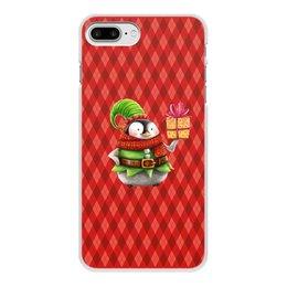 """Чехол для iPhone 7 Plus, объёмная печать """"пингвин"""" - новый год, зима, птицы, подарки, пингвин"""