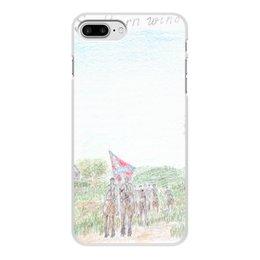 """Чехол для iPhone 7 Plus, объёмная печать """"Кавалерия Конфедерации"""" - армия, война, сша, кавалерия, гражданская война сша"""