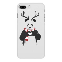 """Чехол для iPhone 7 Plus, объёмная печать """"панда"""" - сердце, панда"""