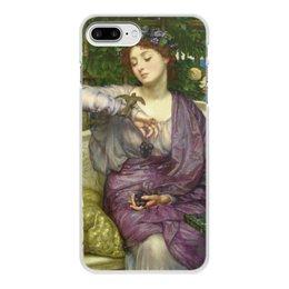 """Чехол для iPhone 7 Plus, объёмная печать """"Лесбия и её воробушек (Эдвард Пойнтер)"""" - картина, живопись, мифология, пойнтер"""