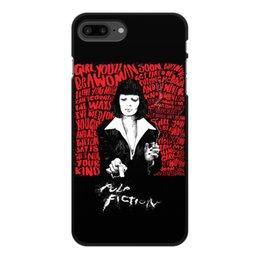 "Чехол для iPhone 7 Plus, объёмная печать ""Pulp Fiction (Ума Турман)"" - mia, культовое кино, ума турман, тарантино, криминальное чтиво"