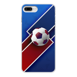 "Чехол для iPhone 7 Plus, объёмная печать ""Футбол"" - футбол, спорт, мяч, 2018"
