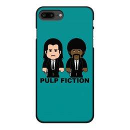 """Чехол для iPhone 7 Plus, объёмная печать """"Pulp Fiction"""" - культовое кино, тарантино, джон траволта, сэмюэл лерой джексон, криминальное чтиво"""