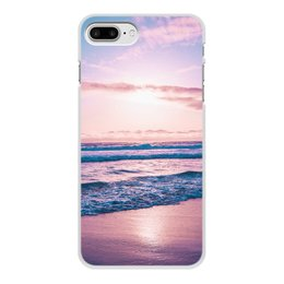 """Чехол для iPhone 7 Plus, объёмная печать """"Summer time!"""" - лето, солнце, море, пляж, песок"""