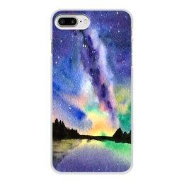 """Чехол для iPhone 7 Plus, объёмная печать """"Природа"""" - звезды, небо, краски, природа, пейзаж"""