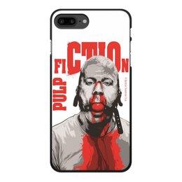 """Чехол для iPhone 7 Plus, объёмная печать """"Pulp Fiction (Брюс Уиллис)"""" - pulp fiction, культовое кино, тарантино, брюс уиллис, криминальное чтиво"""
