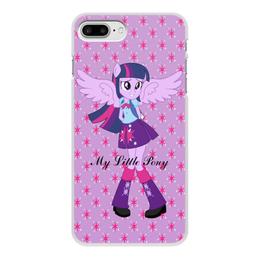 """Чехол для iPhone 7 Plus, объёмная печать """"Искорка (Девочки Эквестрии)"""" - mlp, мой маленький пони, искорка, девочки эквестрии, equestria girls"""