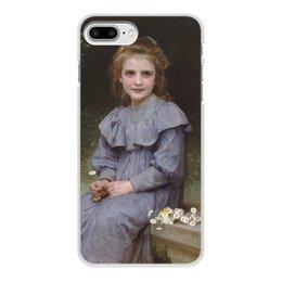 "Чехол для iPhone 7 Plus, объёмная печать ""Маргаритки (картина Вильяма Бугро)"" - цветы, картина, академизм, живопись, бугро"