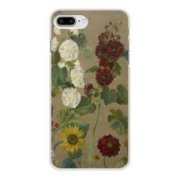 """Чехол для iPhone 7 Plus, объёмная печать """"Цветы (картина Эжена Делакруа)"""" - цветы, картина, живопись, делакруа, романтизм"""