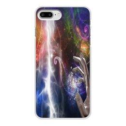"""Чехол для iPhone 7 Plus, объёмная печать """"фантастика"""" - игры, рука, космос, фантастика, мистика"""
