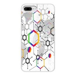 """Чехол для iPhone 7 Plus, объёмная печать """"Формула"""" - узор, текстура, формула, химия, молекулы"""