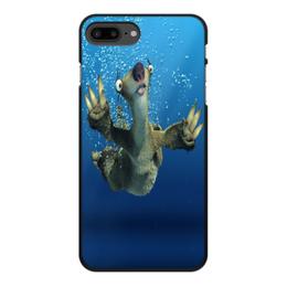 """Чехол для iPhone 7 Plus, объёмная печать """"Ледниковый период (Сид под водой)"""" - мультфильм, ледниковый период, сид, ленивец, ice age"""