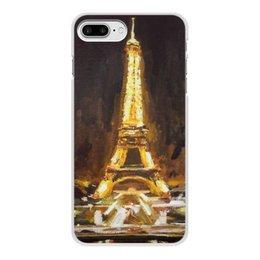 """Чехол для iPhone 7 Plus, объёмная печать """"Париж"""" - париж, эйфелева башня, шоколад, paris"""
