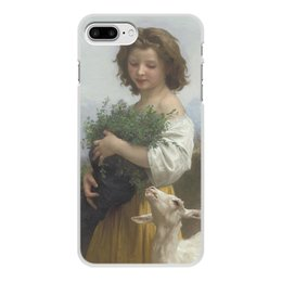 """Чехол для iPhone 7 Plus, объёмная печать """"Юная Эсмеральда (картина Вильяма Бугро)"""" - картина, академизм, живопись, бугро, крестьянка"""