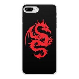 """Чехол для iPhone 7 Plus, объёмная печать """"ДРАКОНЫ ФЭНТЕЗИ. СИМВОЛИКА"""" - стиль, дракон, красота, эмблема, символ"""