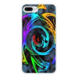 """Чехол для iPhone 7 Plus, объёмная печать """"Узор красок"""" - цветы, космос, пятна, краски, абстракция"""