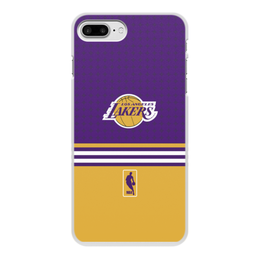 "Чехол для iPhone 7 Plus, объёмная печать ""Lakers case pro"" - желтый, los angeles, nba, лейкерс, lakers"