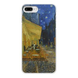 "Чехол для iPhone 7 Plus, объёмная печать ""Ночная терраса кафе ( Винсент Ван Гог)"" - картина, ван гог, живопись"