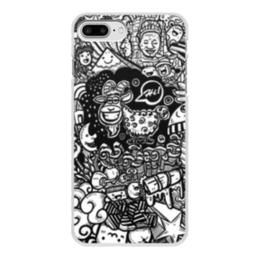 """Чехол для iPhone 7 Plus, объёмная печать """"Иллюстрация"""" - звезда, люди, баран, ананас, козел"""