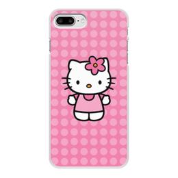 """Чехол для iPhone 7 Plus, объёмная печать """"Kitty в горошек"""" - мультик, hello kitty, мультфильм, для детей, привет китти"""