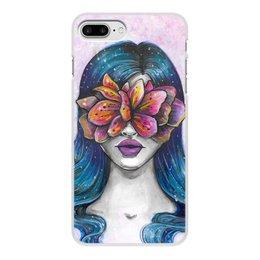 """Чехол для iPhone 7 Plus, объёмная печать """"Весна"""" - праздник, девушка, цветы, 8 марта, весна"""