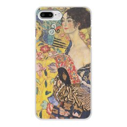 """Чехол для iPhone 7 Plus, объёмная печать """"Дама с веером (Густав Климт)"""" - картина, климт"""