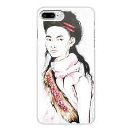 """Чехол для iPhone 7 Plus, объёмная печать """"Фэшн-иллюстрация"""" - девушка, мода, fashion, иллюстрация, стильная"""