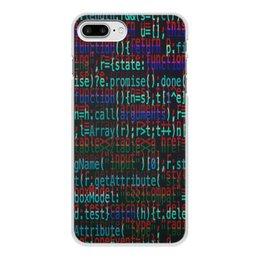 """Чехол для iPhone 7 Plus, объёмная печать """"Программа"""" - компьютеры, код, программа, пароль, кодировка"""
