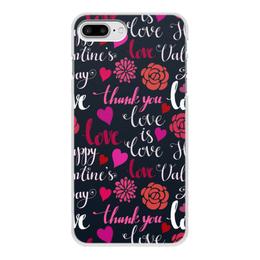"""Чехол для iPhone 7 Plus, объёмная печать """"День Св. Валентина"""" - любовь, сердца, валентинка, день св валентина"""